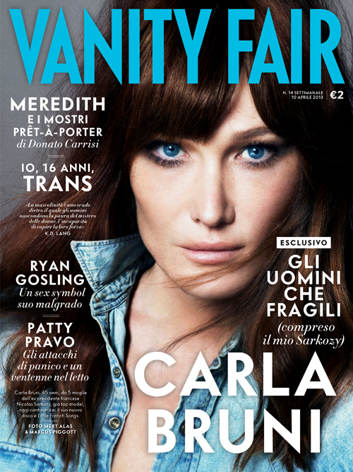Italian Vanity Fair Cover: Carla Bruni